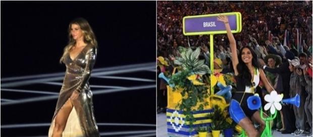 Gisele Bündchen desfilou mais de 100 metros no Maracanã
