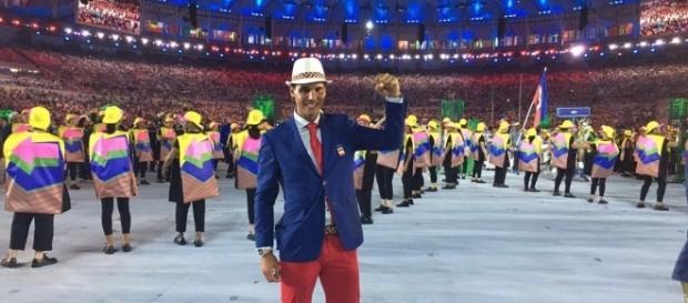 Rafael Nadal en el Estadio de Maracaná en la inauguración de Los JJOO de Río 2016.