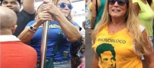 Susana Vieira pega metrô no Rio