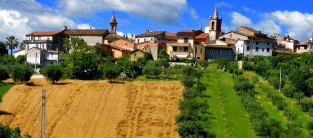 Una veduta del centro storico di Torano Nuovo