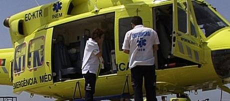 INEM enviou um helicóptero para transporte da vítima mas esta acabou por morrer