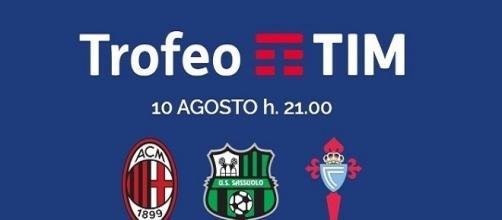 Diretta tv Trofeo Tim 2016: tabellone e orari partite Milan, Sassuolo, Celta Vigo.