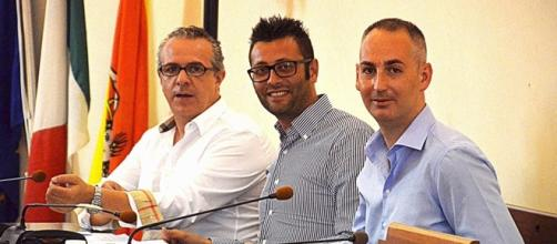 I consiglieri di opposizione Ferrero, Pintaldi e Rosa
