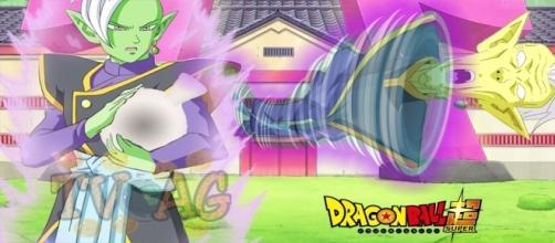 Zamasu, atacando a su maestro Gowazu