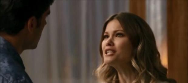 Felipe e Jéssica brigam por Shirlei (Divulgação/Globo)