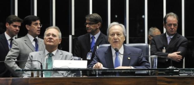 Lewandowski preside a sessão de votação do impeachment (Foto: Agência Senado)