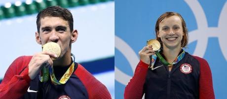 Phelps y Ledecky en lo más alto del podio
