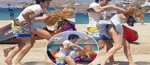 Jovem atriz foi agredida pelo noivo. Fotos: Catraca Livre.
