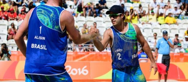 Foto: Dupla brasileira é derrotada por austríacos nesta segunda (wp.clicrbs/Reprodução)