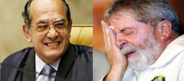 Gilmar Mendes e Luiz Inácio Lula da Silva