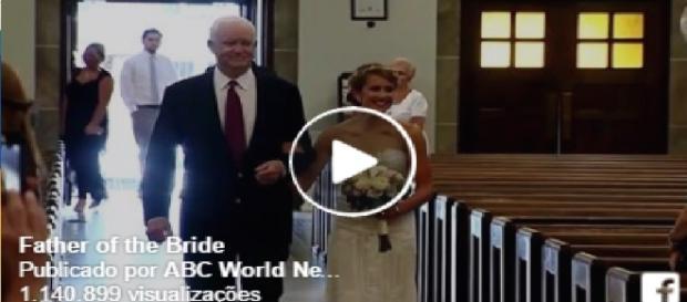 Noiva é levada por homem que recebeu coração do pai dela