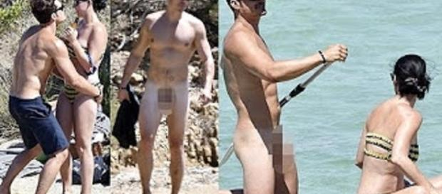 Nude Orlando Bloom bares all with Katy Perry. Source: Youtube still