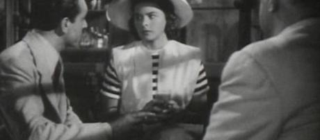 'Casablanca' Trailer Screenshot of Paul Henreid, Ingrid Bergman, Sydney Greenstreet; costumes designed by Orry-Kelly (Photo: Wikimedia Commons)