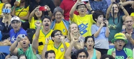 Torcida brasileira é marcada por gritos de apoio e vaias contra os adversários (Foto: Danilo Borges /ME /BRASIL2016)