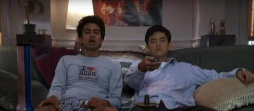 Kal Penn and John Cho in 'Harold and Kumar Go To White Castle'. Movie Trailers/YouTube.