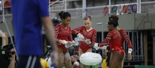 Team USA's #FinalFive won gymnastics team gold at the 2016 Rio Olympics on Aug. 9. Fernando Frazão/Wikimedia Commons