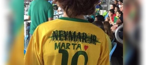 Garoto troca o nome de Neymar pelo de Marta