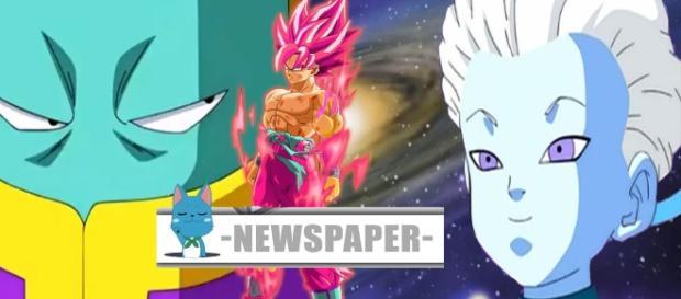 Goku en super saijayin rose en medio de asistentes