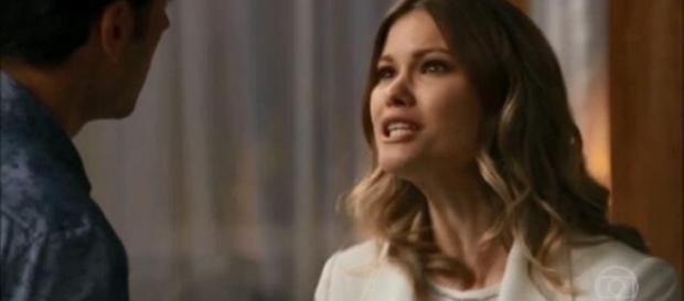 Jéssica ofende Shirlei por ciúmes (Globo)