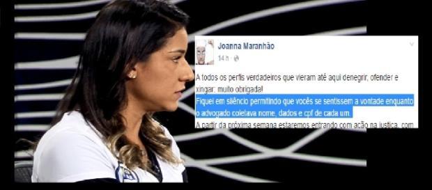 Joanna Maranhão polemiza de novo