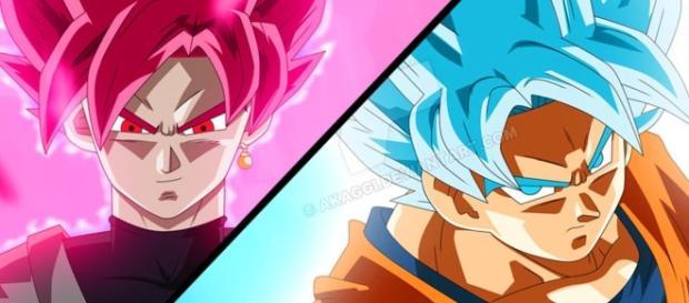 La pelea de Gokú y el super saiyajin Rose