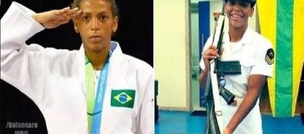 Rafaela Silva é ouro e militar