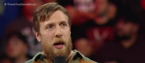 Daniel Bryan on Monday Night RAW in February 2016, announcing his retirement. Photo c/o sportsonearth.com.