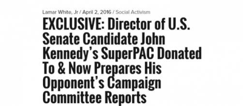 Lamar White, Jr. investigates federal fundraising tactics of John Kennedy. Source: http://www.cenlamar.com
