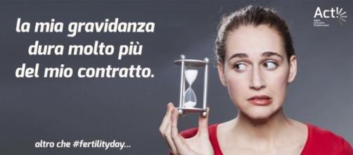 Una grafica di ACT contro il Fertility Day voluto dalla Ministra Lorenzin
