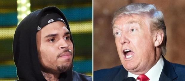 Chris Brown Responds to Black Protester Getting Punched at Trump ... - usmagazine.com
