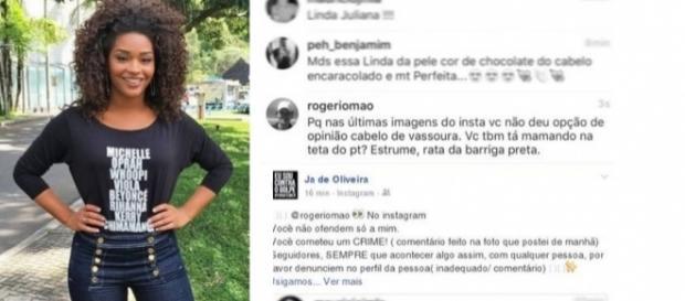 Juliana Alves sofre racismo nas redes sociais