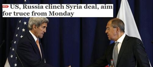 Accord conclu pour une trêve d'une semaine en Syrie à partir du lundi 12 septembre 2016