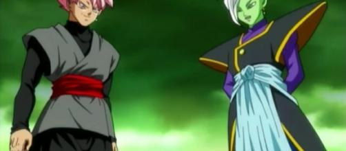BLACK ROSE Y ZAMASU DRAGON BALL