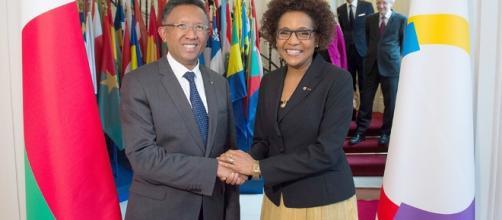 Michaëlle Jean, SG de l'OIF reçue par le président de la République malgache