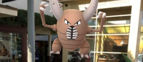 Pokemon GO's Pinsir spotted at The Farmers' Market adjacent to The Grove (Photo: Courtesy of BlastingNews.com writer Lori Huck)