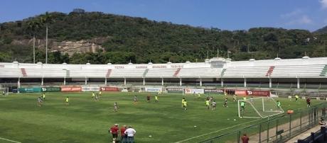 Recreativo encerra preparação do Fluminense para encarar o Atlético-MG (Foto: Sofia Miranda/Globoesporte)