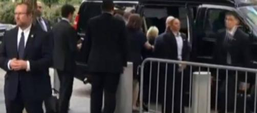 Hillary collapses and is put in the van by staff. Photo: YouTube Video The Alex Jones Channel