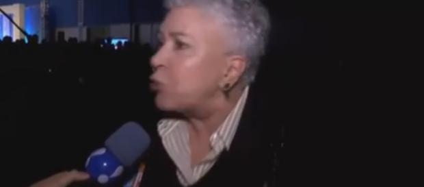 Candidata xinga profissionais da mídia - Reprodução: RedeTV