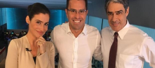 Renata, Rodrigo e Bonner - Foto/Facebook