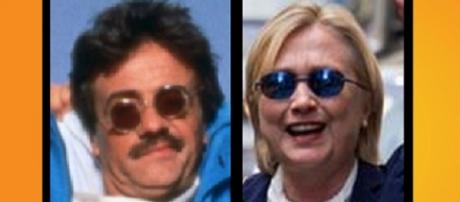 Hillary Clinton resembled 'Weekend at Bernies' being helped into that van! Photo: YouTube stills 1. Weekend at Bernies promo 2. ABC Chicago News
