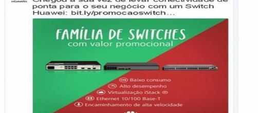 Com cores do Fluminense, Huawei faz propaganda de lançamento para o ramo da telefonia (Foto: Twitter/Reprodução)