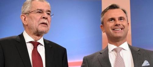 I due candidati, Alexander Van der Bellen (Verdi) e Norbert Hofer (Partito della Libertà) propongono due modelli di società contrapposti