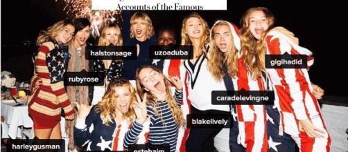 Un cliché de Taylor Swift sur Instagram. À part Cara Delevingne, qui sont donc au juste les autres ?