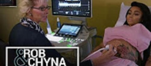 "Youtube still: ""Rob & Chyna   Rob Kardashian & Blac Chyna Reveal the Sex of Their Baby"" E! Entertainment channel"