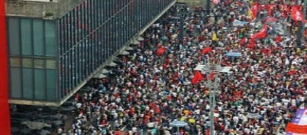 A cidade de São Paulo registrou manifestação