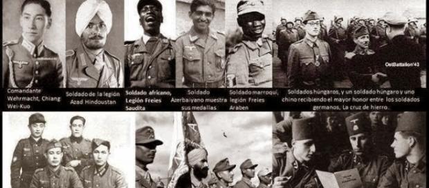 Soldados alemanes de todas las razas