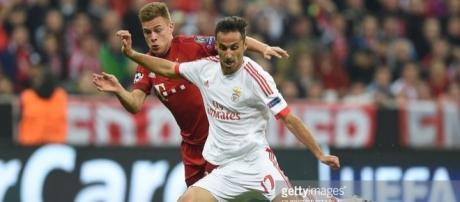 O Benfica não conta com Jonas para o jogo com o Besiktas