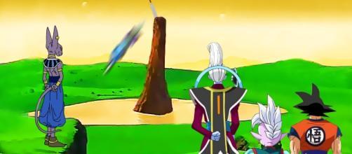 Bills encierra en la espada z a Zamasu