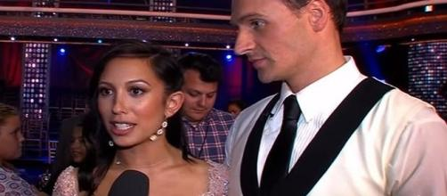 Cheryl Burke and Ryan Lochte-Photo by YouTube/Access Hollywood