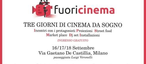 Fuori Cinema dal 16 al 18 settembre a Milano.